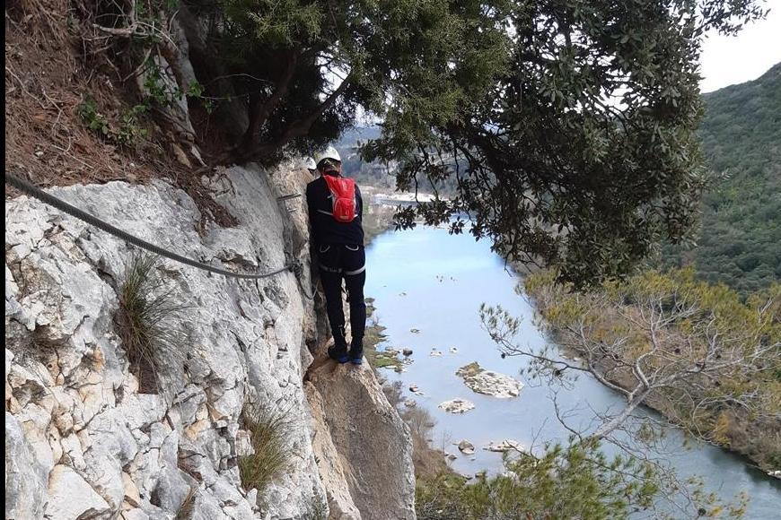 Sortie Via Ferrata au-dessus du Gardon