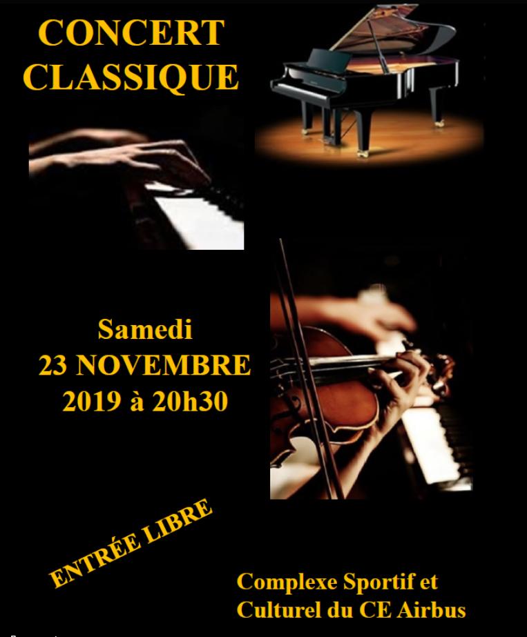 Concert classique 23 novembre 2019 au complexe sportif